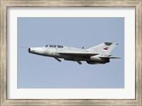 A Serbian Air Force MiG-21UM jet fighter Fine Art Print
