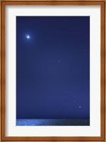 Conjunction of the moon, Jupiter, Mars and Venus Fine Art Print