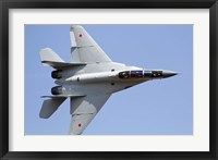 An MiG-29M2 performing at Aeromiting Batajnica 2012 airshow Fine Art Print