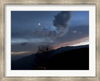 Moon and Venus conjunction above the village of Gazorkhan, Iran Fine Art Print