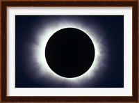 Total solar eclipse taken near Carberry, Manitoba, Canada Fine Art Print