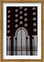 Archway in Al-Hassan II mosque, Casablanca, Morocco Fine Art Print