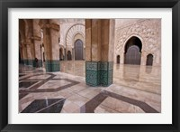 Al-Hassan II mosque, Casablanca, Morocco Fine Art Print