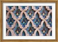 Wall tiles in Al-Hassan II mosque, Casablanca, Morocco Fine Art Print
