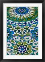 Floor tiles in Al-Hassan II mosque, Casablanca, Morocco Fine Art Print