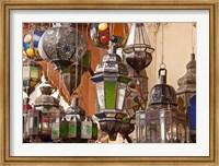 Decorative lanterns in Fes medina, Morocco Fine Art Print