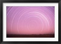 Africa, Botswana, Linyanti Swamps. Star trails Fine Art Print