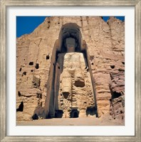 Afghanistan, Bamian Valley, Great Buddha base Fine Art Print