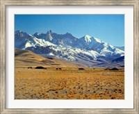 Afghanistan, Bamian Valley, Mountains, Kuchi camp Fine Art Print