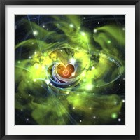 An unusual nebula in the cosmos has a heart at its center Fine Art Print