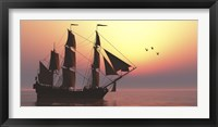 The Medusa was a 40-gun frigate of the French Navy Fine Art Print