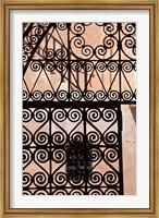 Iron gate, Moorish architecture, Rabat, Morocco Fine Art Print