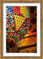 Lamp in antique shop, Marrakech, Morocco Fine Art Print