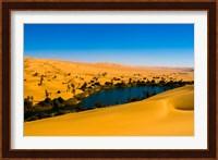 Libya, Fezzan, desert Erg Ubari, Umm el Maa lake Fine Art Print