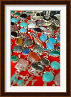 Mauritania, Adrar, Chinguetti, Stones and jewellery Fine Art Print