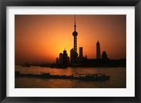 Oriental Pearl TV Tower and High Rises, Shanghai, China Fine Art Print