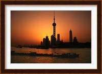 Oriental Pearl TV Tower and High Rises, Shanghai, China Fine Art Print
