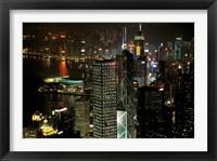 Skyscrapers of Victoria Harbor, Hong Kong, China Fine Art Print