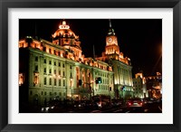 View of Colonial-style Buildings Along the Bund, Shanghai, China Fine Art Print