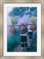 Zhuang Girls Carrying Hay, China Fine Art Print