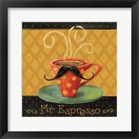 Cafe Moustache III Square Fine Art Print