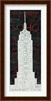 Empire State Building - Red Fine Art Print