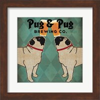 Pug and Pug Brewing Square Fine Art Print
