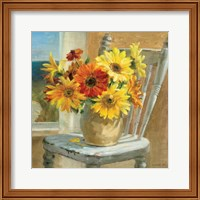 Sunflowers by the Sea Crop Fine Art Print