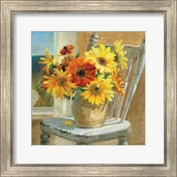 Sunflowers by the Sea Crop Fine Art Print
