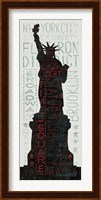 Statue of Liberty - Red Fine Art Print