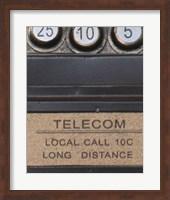 Old Vintage Pay Phone I Fine Art Print
