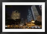 City Skyline, Statue Square, Hong Kong, China Fine Art Print