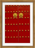 Red Gates by Forbidden City, Beijing, China Fine Art Print