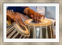 Drum Player's Hands, Varanasi, India Fine Art Print