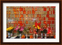 Flowers at Man Mo Buddhist Temple, Hong Kong Fine Art Print