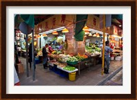 Street Market Vegetables, Hong Kong, China Fine Art Print
