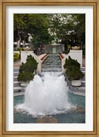 Waterfall In Hong Kong Park, Hong Kong, China Fine Art Print