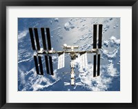 International Space Station is seen from Space Shuttle Discovery Fine Art Print