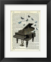 Piano & Butterflies Fine Art Print