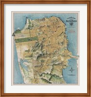 Map of San Francisco, California, 1912 Fine Art Print