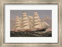 """Clipper Ship """"Three Brothers"""", ca. 1875 Fine Art Print"""