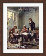 Writing the Declaration of Independence, 1776 Fine Art Print