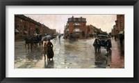 Rainy Day, Boston, 1885 Fine Art Print