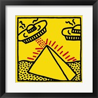 Untitled, 1984 (pyramid with UFOs) Fine Art Print