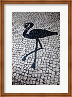 China, Macau Portuguese tile designs - flamingo, Senate Square Fine Art Print