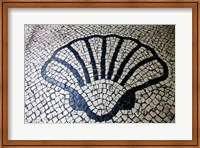 China, Macau Portuguese tile designs - sea shell, Senate Square Fine Art Print