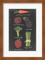 Blackboard Veggies I Fine Art Print