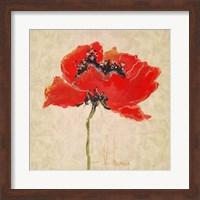 Vivid Red Poppies III Fine Art Print