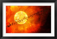 A young star circled by debris Fine Art Print