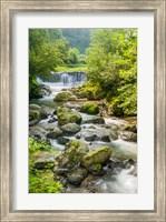 Waterfall and River, Rize, Black Sea Region of Turkey Fine Art Print